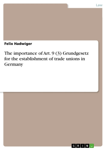 importance of trade union Unions are all about supporting their members at work those involved in the union movement believe that all aspects of working life should be the subject of discussion and agreement between.