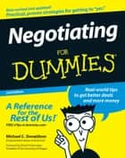 Negotiating For Dummies ebook by Donaldson, David Frohnmayer