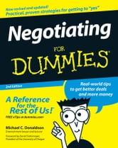 Negotiating For Dummies ebook by Donaldson