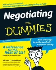 Negotiating For Dummies ebook by Donaldson,David Frohnmayer