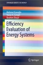 Efficiency Evaluation of Energy Systems ebook by Mehmet Kanoğlu, Yunus A. Çengel, Ibrahim DinCer