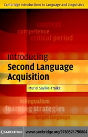 Intro Second Language Acquisition ebook by Saville-Troike, Muriel