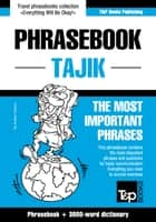 English-Tajik phrasebook and 3000-word topical vocabulary ebook by Andrey Taranov