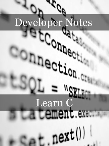 Learn C ebook by Developer Notes