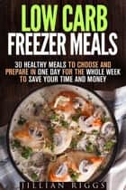 Low Carb Freezer Meals: 30 Healthy Meals to Choose and Prepare in One Day for the Whole Week to Save Your Time and Money - Microwave Cookbook & Quick and Easy Meals ebook by Jillian Riggs