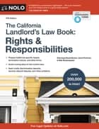 California Landlord's Law Book, The - Rights & Responsibilities ebook by David Brown, Attorney, Janet Portman,...