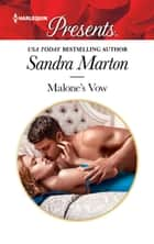 Malone's Vow ebook by Sandra Marton