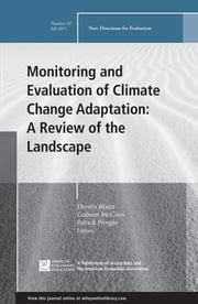 Monitoring and Evaluation of Climate Change Adaptation: A Review of the Landscape - New Directions for Evaluation, Number 147 ebook by Dennis Bours,Colleen McGinn,Patrick Pringle