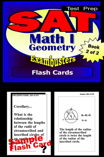 SAT Math Level I Test Prep Review--Exambusters Geometry Flash Cards--Workbook 2 of 2 - SAT II Exam Study Guide ebook by SAT II Exambusters