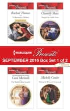 Harlequin Presents September 2016 - Box Set 1 of 2 - To Blackmail a Di Sione\The Sheikh's Baby Scandal\Trapped by Vialli's Vows\Defying the Billionaire's Command ebook by Rachael Thomas, Carol Marinelli, Chantelle Shaw, Michelle Conder