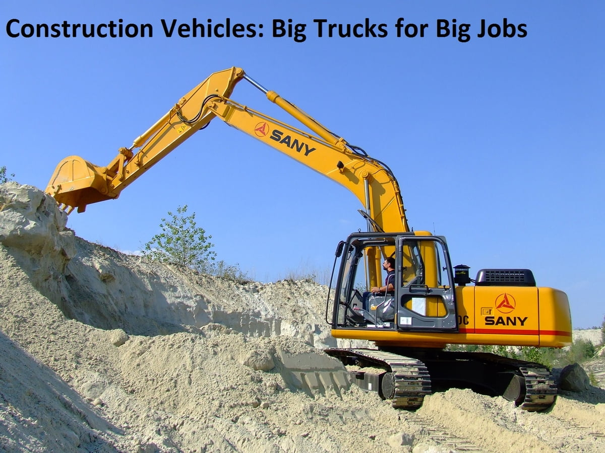 construction vehicles big trucks for big jobs kids series ebook