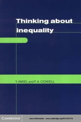 Thinking about Inequality ebook by Amiel, Yoram
