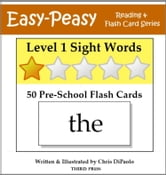 Level 1 Sight Words: 50 Pre-School Flash Cards ebook by Chris DiPaolo