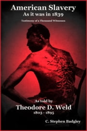 American Slavery As It Was In 1839 - Testimony of a Thousand Witnesses ebook by C. Stephen  Badgley,Theodore D. Weld