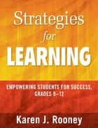 Strategies for Learning ebook by Karen J. Rooney