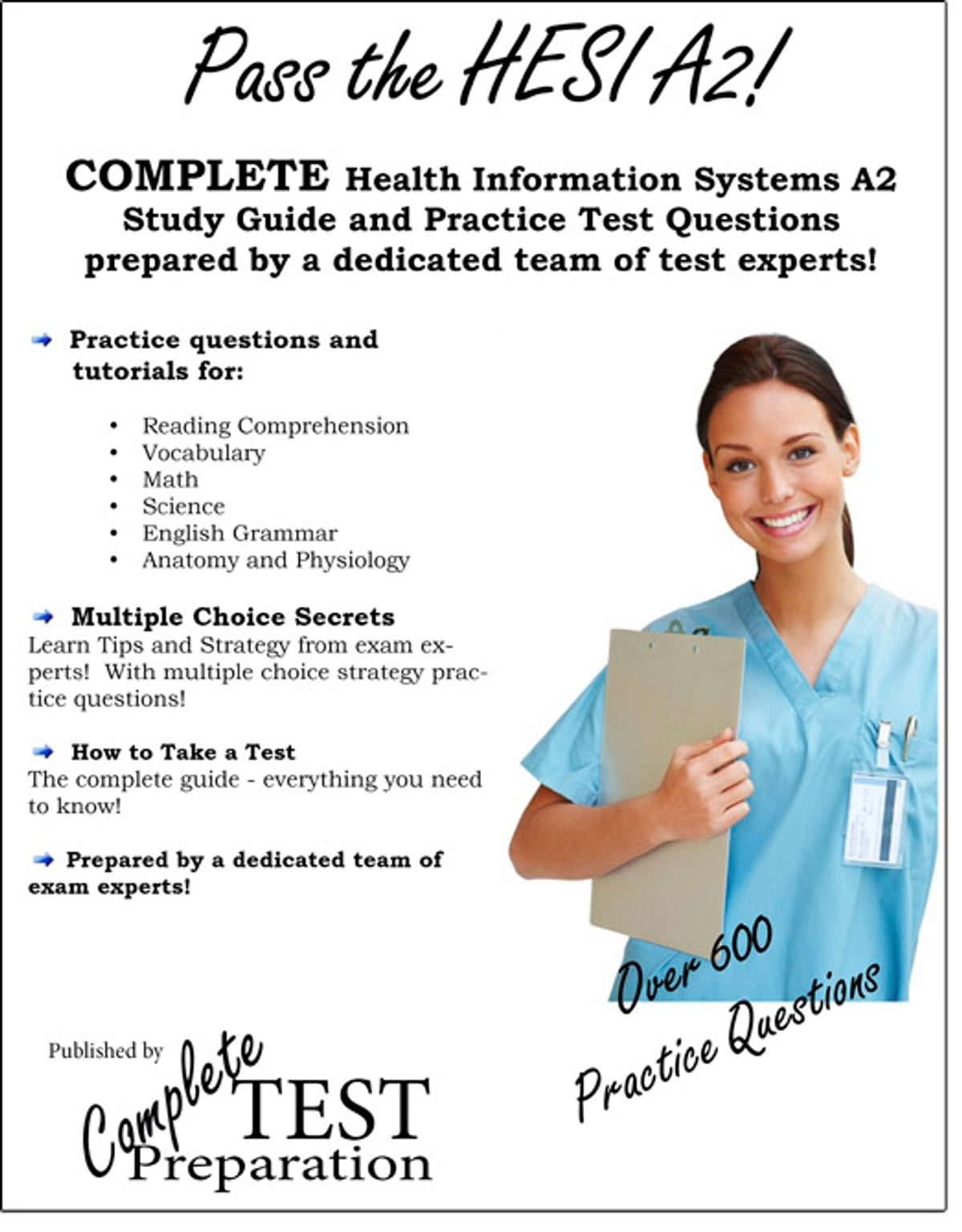 Pass the HESI A2! Health Information Systems Evolve Reach study guide and  practice test questions eBook by Complete Test Preparation Inc. -  1230000007150 ...