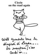Ciccia, un gatto On the Road again - 50 disegni ebook by Evelyne Nicod