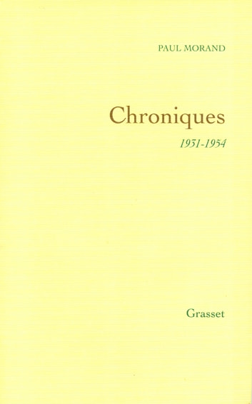 Chroniques ebook by Paul Morand