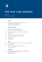 Yale Law Journal: Volume 121, Number 7 - May 2012 ebook by Yale Law Journal