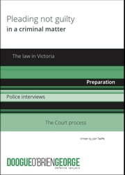 Pleading Not Guilty in a Criminal Matter ebook by Josh Taaffe
