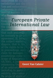 European Private International Law ebook by Geert Van Calster