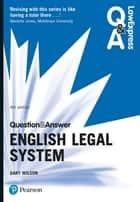 Law Express Question and Answer: English Legal System ebook by Dr Gary Wilson
