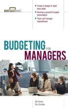 Budgeting for Managers ebook by Sid Kemp