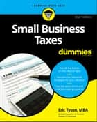 Small Business Taxes For Dummies ebook by Eric Tyson
