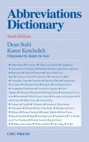 Abbreviations Dictionary, Tenth Edition ebook by Stahl, Dean A.