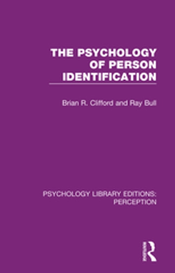 The psychology of person identification ebook by brian r clifford the psychology of person identification ebook by brian r cliffordray bull fandeluxe Images