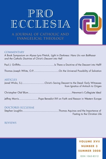 Pro Ecclesia Vol 17-N3 - A Journal of Catholic and Evangelical Theology ebook by Pro Ecclesia