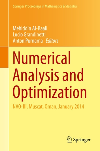 Numerical Analysis and Optimization - NAO-III, Muscat, Oman, January 2014 ebook by