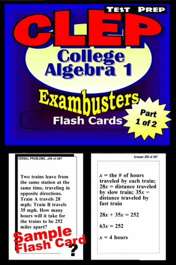 clep college algebra test prep review exambusters algebra 1 flash rh kobo com Study Guides CLEP Subject-Specific 2018 clep official study guide ebook