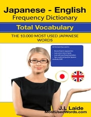 Japanese English Frequency Dictionary - Total Vocabulary - 10000 Most Used Japanese Words