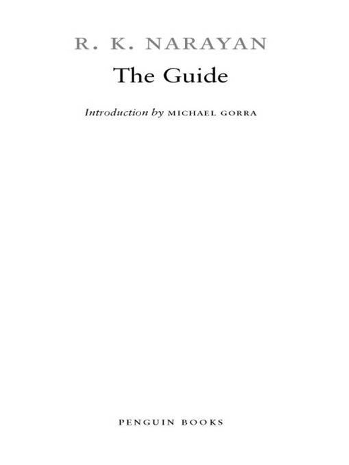 The Guide ebook by R  K  Narayan - Rakuten Kobo