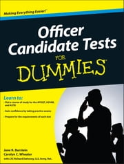 Officer Candidate Tests For Dummies ebook by Jane R. Burstein,Carolyn C. Wheater,LTC Richard Dahoney