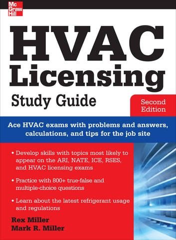 hvac licensing study guide second edition ebook by rex miller rh kobo com HVAC Certification Car Air Conditioning System