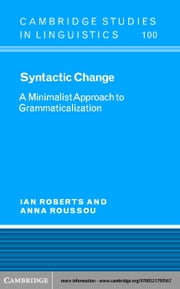 Syntactic Change ebook by Roberts, Ian