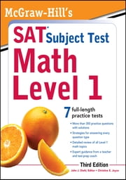 McGraw-Hill's SAT Subject Test Math Level 1, 3rd Edition ebook by John Diehl