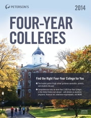 Four-Year Colleges 2014 ebook by Peterson's