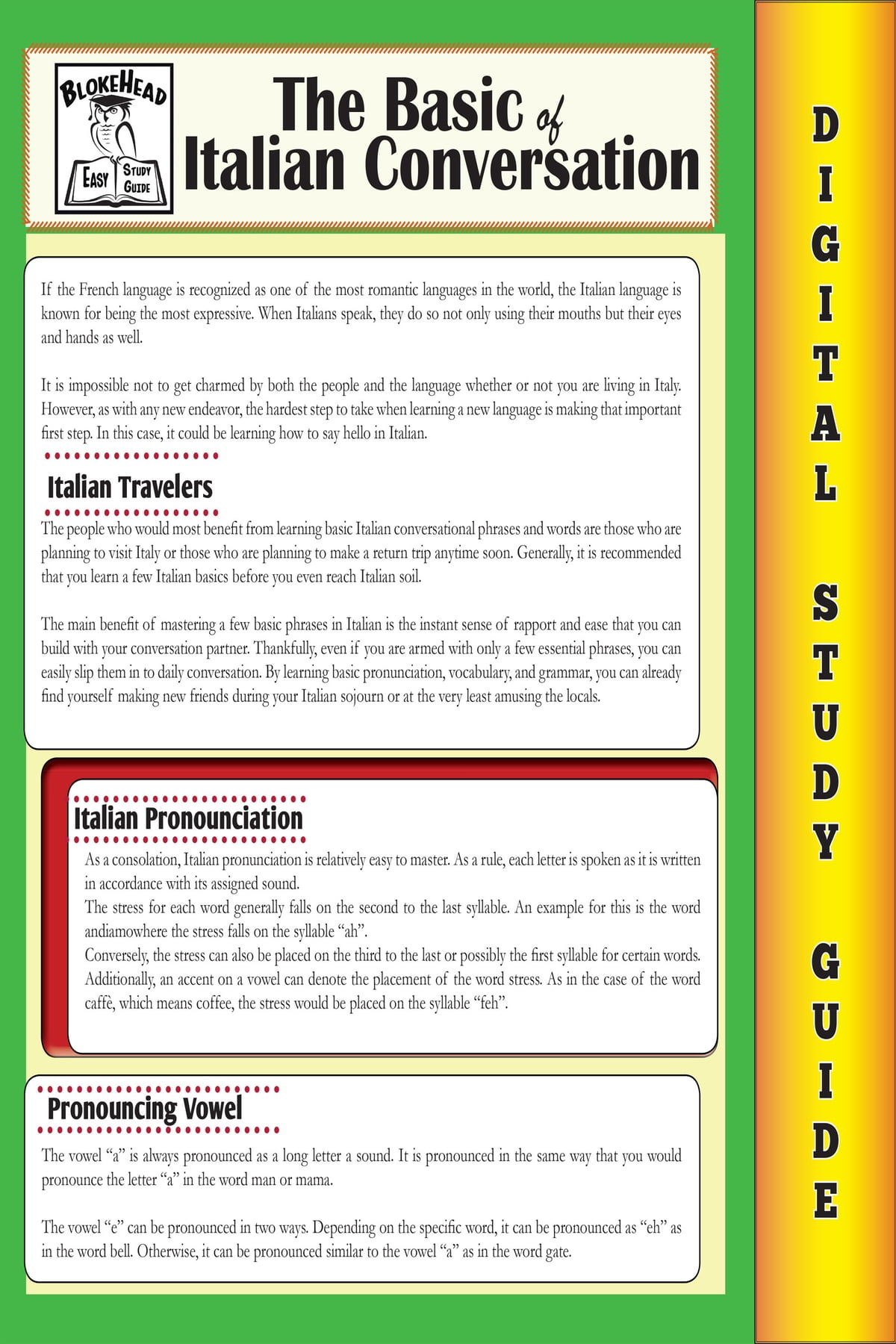 Italian Conversation (Blokehead Easy Study Guide) ebook by The Blokehead -  Rakuten Kobo