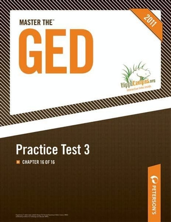 Master the GED: Practice Test 3: Chapter 16 of 16 ebook by Peterson's
