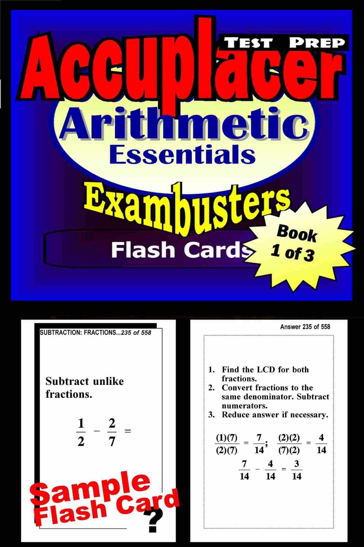 Workbooks kaplan sat critical reading workbook : Accuplacer Test Prep Arithmetic Review--Exambusters Flash Cards ...