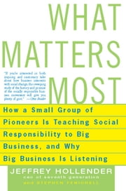 What Matters Most - How a Small Group of Pioneers Is Teaching Social Responsibility to Big Business, and Why Big Busines ebook by Jeffrey Hollender