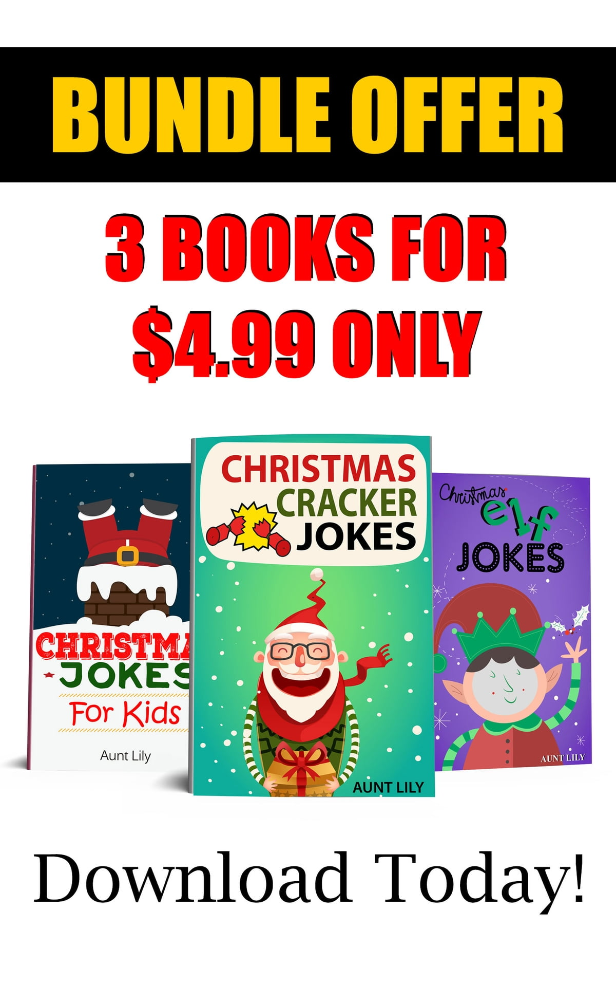 Christmas Jokes BUNDLE BOOK for Children eBook by Aunt Lily ...