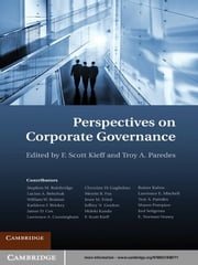 Perspectives on Corporate Governance ebook by F. Scott Kieff,Troy A. Paredes