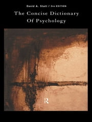 The Concise Dictionary of Psychology ebook by David Statt