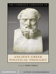 The Cambridge Companion to Ancient Greek Political Thought ebook by Stephen Salkever