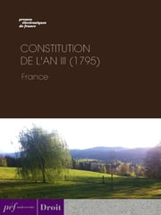 Constitution de l'an III (1795) ebook by collective Oeuvre