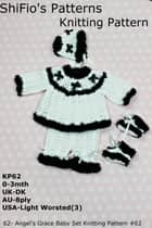 62- Angel's Grace Baby Set Knitting Pattern #62 ebook by ShiFio's Patterns